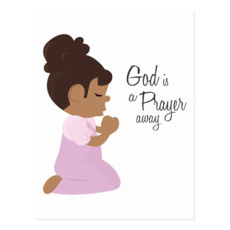 God Is A Prayer Away Postcard