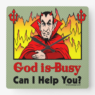 God Is Busy, Can I Help You? Wall Clocks