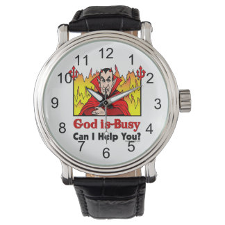 God Is Busy, Can I Help You? Wrist Watches