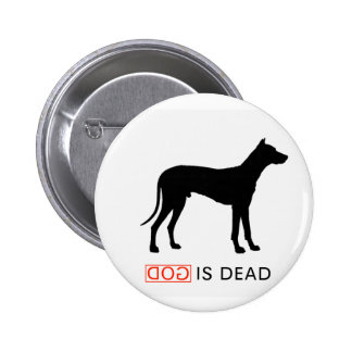 God is Dead badge 2 Inch Round Button