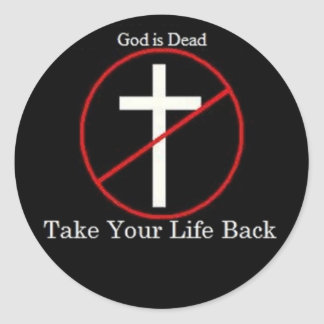 God is Dead Classic Round Sticker