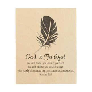 God is Faithful Wood Wall Art