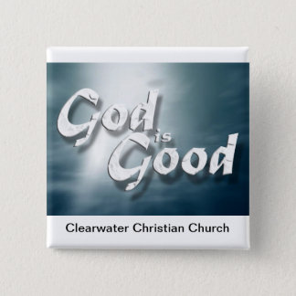 God Is Good 2 Inch Square Button