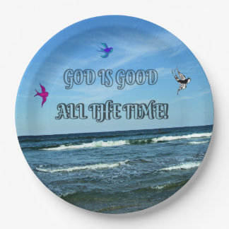 God Is Good All The Time Paper Plate