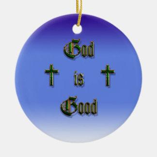 God is Good Ceramic Ornament
