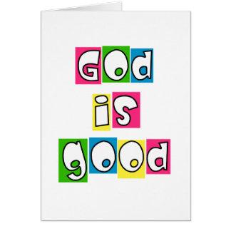 God is good greeting card