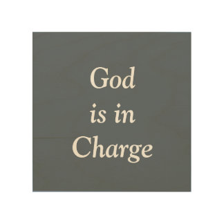 God is in Charge Wall Art Wood Canvases