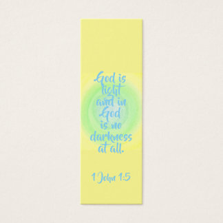 God is light and in God is no darkness at all Mini Business Card