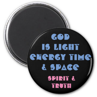 God is light black - Quote Magnet