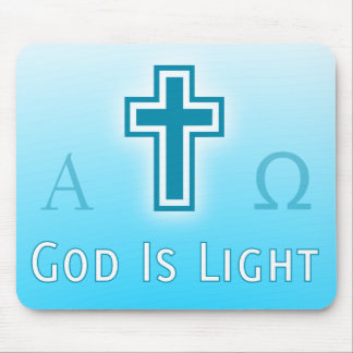 God Is Light custom catholic / christian religious Mouse Pad