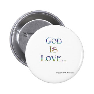 God Is Love 2 Inch Round Button