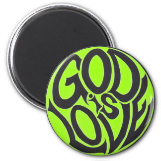 God is Love 2 Inch Round Magnet