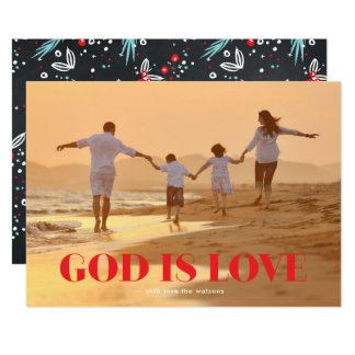 GOD is Love Christmas Religious Holiday Photo Card