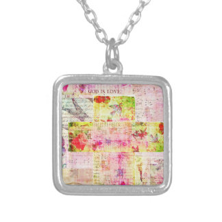 GOD IS LOVE contemporary Christian art Personalized Necklace