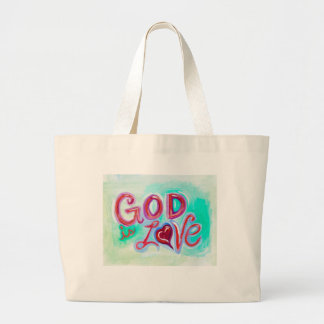 God is LOVE Natural Canvas Tote Bag
