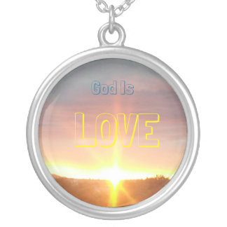 God is Love Silver Plated Necklace