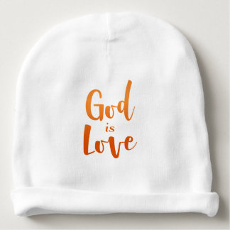 God is Love – Spiritual and Religious Baby Baby Beanie
