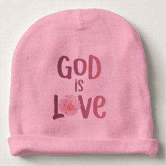God is Love – Spiritual and Religious - Baby Baby Beanie