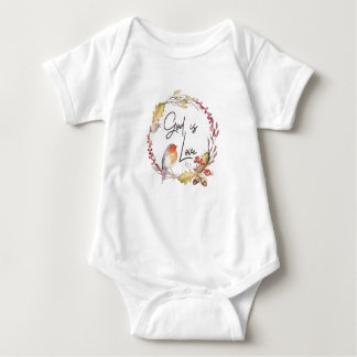 God is Love – Spiritual and Religious - Baby Baby Bodysuit