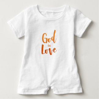 God is Love – Spiritual and Religious Baby Baby Romper