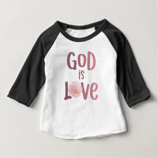 God is Love – Spiritual and Religious - Baby Baby T-Shirt