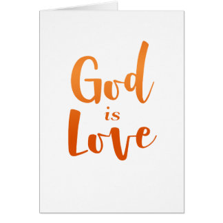 God is Love – Spiritual and Religious Card