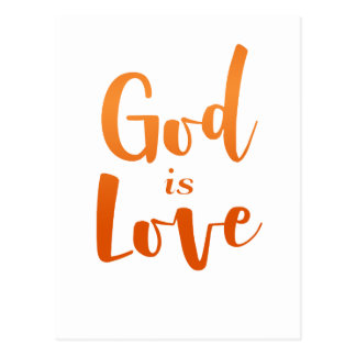 God is Love – Spiritual and Religious Postcard