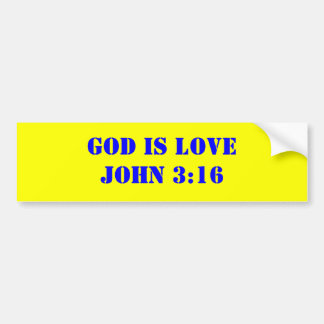 GOD IS LOVEJOHN 3:16 BUMPER STICKER