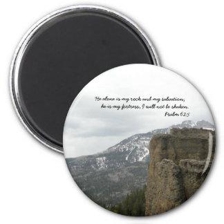 God is my Rock & Salvation 2 Inch Round Magnet