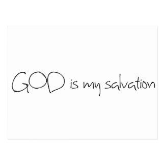 GOD is my salvation Postcard