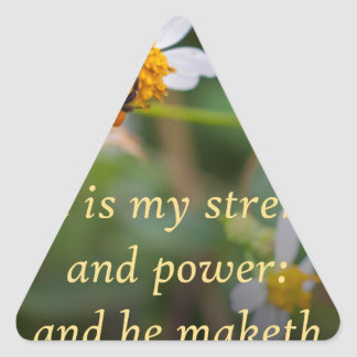 God is my Strength Triangle Sticker