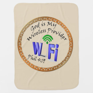 God is My Wireless Provider Phil 4:19 Baby Blanket
