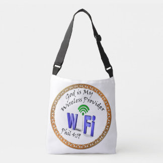 God is My Wireless Provider Phil 4:19 Crossbody Bag