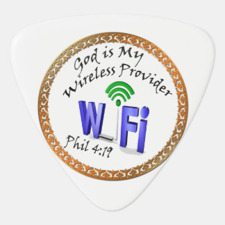 God is My Wireless Provider Phil 4:19 Guitar Pick