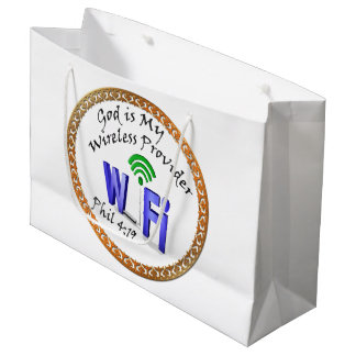 God is My Wireless Provider Phil 4:19 Large Gift Bag