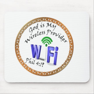 God is My Wireless Provider Phil 4:19 Mouse Pad
