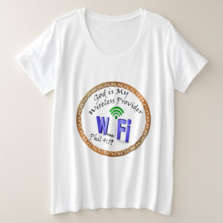 God is My Wireless Provider Phil 4:19 Plus Size T-Shirt