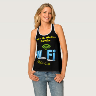 God is My Wireless Provider Phil 4:19 Tank Top. Tank Top