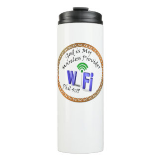 God is My Wireless Provider Phil 4:19 Thermal Tumbler