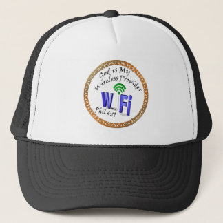 God is My Wireless Provider Phil 4:19 Trucker Hat