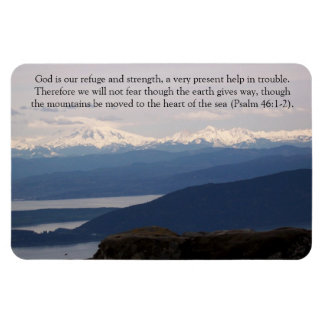 God is our refuge and strength rectangular photo magnet