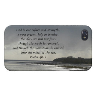 God is our refuge and strength-Scripture/Seascape iPhone 4 Cover