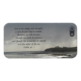 God is our refuge and strength-Scripture/Seascape iPhone 5 Case
