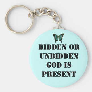 God is present keychain