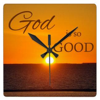 God is So Good Sunset Wall Clock
