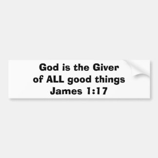 God is the Giver Bumper Sticker