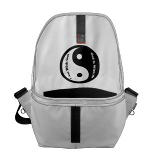 God Is With Me Messenger Bags