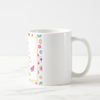 God is With Thee: Floral Butterfly Design Coffee Mug