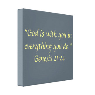 """""""God is with You"""" 12 x 12 Wrapped Scripture Canvas"""