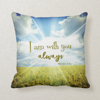 God is with you always Bible Verse Quote Throw Pillow